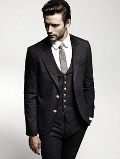 The Dapper Groomsman: 2013 Stylish Grooms Wear.  Liking the entire ensemble but not the white buttons so much.