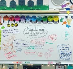 other idea for magical monday.what is one magic trick you would love to learn? Classroom Whiteboard, Classroom Organization, Classroom Schedule, Classroom Ideas, Journal Topics, Daily Journal, Morning Board, Monday Morning, Morning Activities