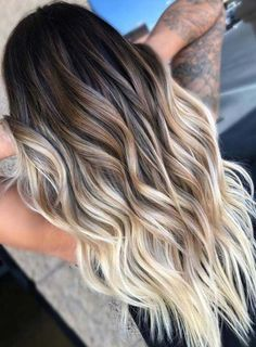 Hairstyles hair ideas Balayage and ombre hair Hair Color Ideas & Trends for 2018 Stylish and attractive - Ombre Hair Dark Blonde Ombre Hair, Brown Hair With Blonde Highlights, Balayage Hair Blonde, Long Ombre Hair, Blonde And Brown Ombre, Balayage Hairstyle, Short Ombre, Ombre Hair Hairstyles, Formal Hairstyles