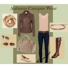 """""""Autumn Campus Wear"""" by vhsmith on Polyvore"""