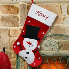 Classic Snowman Christmas Stocking S34659 by GiftsForYouNow