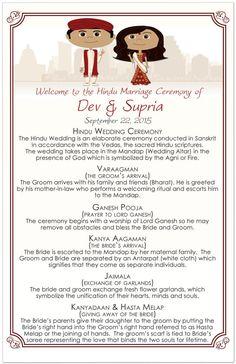 Hindu Wedding Programs Hindu Wedding Order of by 76thStreetInk
