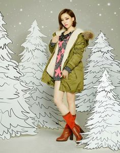 Ga In poses as a stylish winter girl for 'Plus S C.U.E.'   allkpop.com