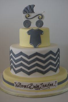 Chevron Baby Shower designed to match the invitations