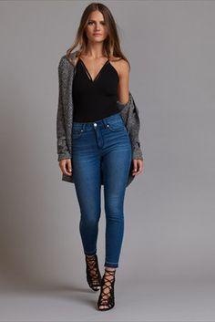 Kate Medium Wash High Rise Skinny Jeans