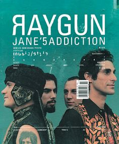 Raygun Magazine was awesome under the helm of David Carson Ray Gun Magazine Covers : Chris Ashworth #culturaimatge