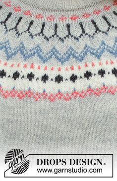 Ravelry: Mina Cardigan pattern by DROPS design Fair Isle Knitting Patterns, Knitting Stitches, Free Knitting, Drops Design, Norwegian Knitting, Magazine Drops, Drops Patterns, Knit Art, How To Purl Knit