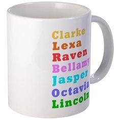 The100 Cast Mugs #the100 #the100tv #Clarke #Lexa #Raven #Bellamy #Jasper #Octavia - for all of this design click here - http://www.cafepress.com/dd/105708665