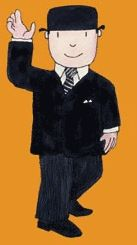Mr Benn- I never realised until now but I had a cooking set with his hat for a sieve, face for the bowl, arms held rolling pin & spoon, legs had cookie cutters in them....OMG!