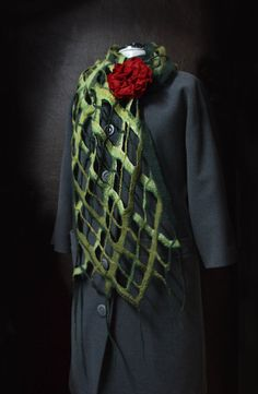 Felted scarf  Magic Flower / The original scarf / by TatiLubav, $46.00
