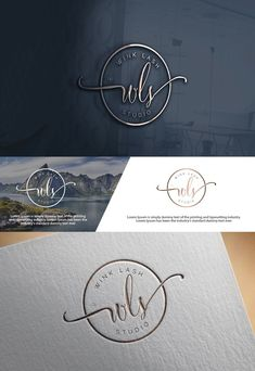 """Check out this Elegant, Playful, Beauty Salon Logo Design for You can use """"WLS"""", """"WINK lash studio"""", """"WLS wink lash studio"""" Schönheitssalon Logo, Logo Branding, Branding Design, Logo Stamp, Spa Logo, Corporate Branding, Symbol Logo, Packaging Design, Logo Inspiration"""