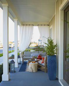 Front Porch Seating Area >>Lovelace Interiors, Designer Linda Holman>> Outdoor Living Space | Outdoor Furniture | Coastal Interiors