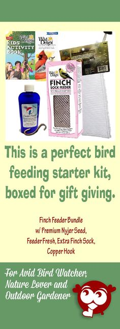 Surprise a bird lover friend with this bird feeding starter kit.