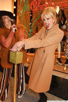 Absolutely Fabulous Stars Jennifer Saunders And Joanna Lumley Turn On Stella McCartneys Christmas Lights As Eddie And Patsy