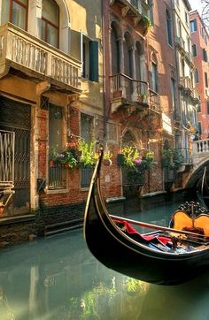 "Venice, Italy (by Manuel Secher). >>> Have you ever ridden a gondola? Was it worth it?oh the story I have about our ""romantic"" gondola ride Beautiful Places To Visit, Wonderful Places, Beautiful World, Amazing Places, Places Around The World, Oh The Places You'll Go, Places To Travel, Dream Vacations, Vacation Spots"