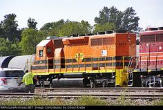 Kiamichi Railroad. KRR 3377   Description:    Photo Date:  9/6/2015  Location:  Hugo, OK   Author:  David Krebs  Categories:  Roster,Yard,Track  Locomotives:  KRR 3377(SD40-2)