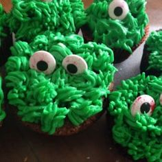 Monster Chocolate Cupcakes for Halloween