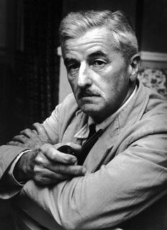 "William Faulkner sat for this portrait June The occasion was the premiere of the motion picture, ""Land of the Pharaohs"" at a Memphis theater. Faulkner wrote the script for the movie. Photo by Charles Nicholas. Writers And Poets, Writers Write, William Faulkner, William Clark, Book Writer, Book Authors, American Literature, Nobel Prize, Playwright"