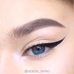 how to do eyeliner , Eye Makeup Permanent Makeup Eyebrows, No Eyeliner Makeup, Skin Makeup, How To Draw Eyeliner, How To Do Eyebrows, Eyeliner Ideas, How To Do Makeup, Black Eyeliner, Makeup Eye Looks