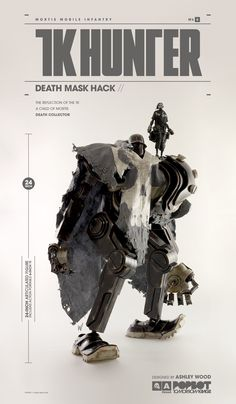 "24"" Mortis Mobile Infantry TK Hunter Mark 6 Death Mask Hack includes Action Portable 6"" TK - May 30th, only at Bambaland (www.bambalandstore.com). USD $588 (Price includes Free Worldwide Shipping). Deposit program details at our blog: http://www.worldofthreea.com/threea-production-blog/7fa5ythzf58fc4bpnklcaejmc53hex Lookbook Coming Soon! #threeA #AshleyWood #AshleyWoodArt #WorldOf3A #WO3A #ActionPortable #Popbot #TomorrowKings"