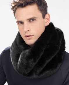 ZARA - NEW THIS WEEK - FUR AND KNIT SNOOD