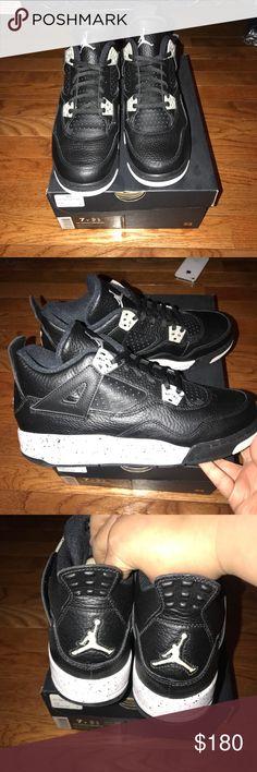 Jordan retro 4 Oreo Brand new in box Jordan retro 4 Oreo size 7y comes with da2a6b7c9