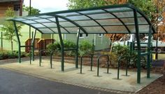 Kestrel Cycle Shelter View 3, view more great cycle shelters at our website.