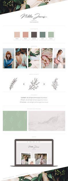 Brand Board Template: Nikko // Editable brand board templates for web designers and visual identity designers! Webdesign Inspiration, Logo Inspiration, Fashion Inspiration, Brand Identity Design, Branding Design, Identity Branding, Corporate Identity, Corporate Design, Brochure Design