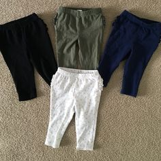 077ba162b Bundle old navy baby leggings! Navy blue, army green, black, and feather