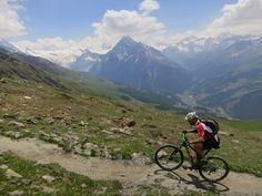 Mountain biking in the French Alps