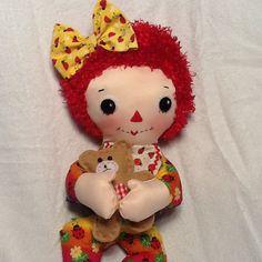 """PDF Cloth Rag Doll Pattern Baby Raggedy Ann Easy Great Beginner Sewing Pattern for 15 """" Rag Doll by Peekaboo Porch"""