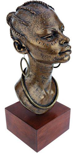 African Princess Bust Statue
