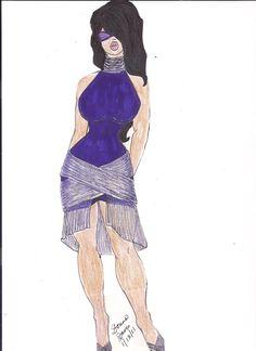 Purple Cocktail Dress with Crisscross Detail