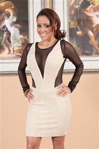 Gold dress with black mesh open back