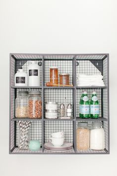 kitchen organization under the sink option! Love the shelves! Cube Wall Shelf, Cube Shelves, Open Shelves, Wall Shelves, Kitchen Organization, Organization Hacks, Kitchen Storage, Kitchen Styling, Organizing Life