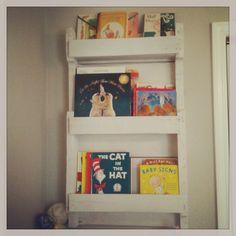 Eden's pallet bookshelf :).