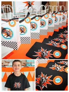 Go Kart Party – This birthday is featured in three parts the dessert table, craft and dinner table, and lastly go kart racing.