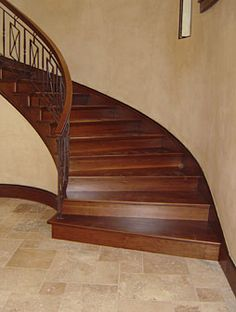 Way out of my budget, but a girl can dream, can't she? Flooring Tools, Flooring Options, Flooring Ideas, Mesquite Wood, Hardwood Stairs, Shoe Molding, Stair Nosing, Stair Treads, Stairways