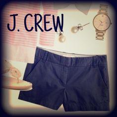 "J crew 3"" broken-in chino shorts LIKE NEW! Black 100% cotton 3"" chino shorts J. Crew Shorts"