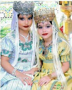 Little pretty girls with traditional Algerian Tlemcenian dresses #traditions #tlemcen #Algeria