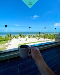 México 🇲🇽 morning routine: ✅ Coffee & baileys ✅ Ocean ✅ Sun ✅ Warm breeze ✅ Workout optional It's not for everyone...but it could be for you! Caban Condos Mexico 🏖 Beach Village, Ocean Front Property, Living In Mexico, Beach Properties, Rooftop Terrace, Us Beaches, White Sand Beach, Baileys, Pent House