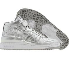 new product a0c04 2c41a Adidas Forum Mid (metallic silver   metallic silver   runwht) Shoes 160444