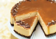 Toffee crunch caramel cheesecake from Bon Appétit Magazine