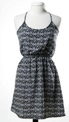 Printed T-Back Dress