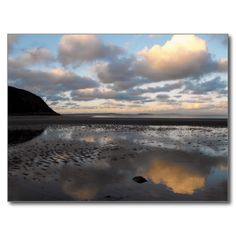 Conwy Beach Reflections Post Card