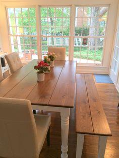 Dining Room Table Farm Farmhouse Bench By KKFurniture