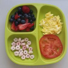 """#raspberries,#strawberries,#blueberries / #plumorganics #superpuffs /#tomatoes / #eggs @replayrecycled #bigbossledweaning #blw #babyfood #toddlerfood…"""