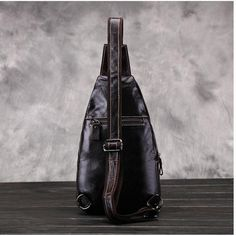 Crocodile Retro Genuine Leather Men Chest Pack Shoulder Bag