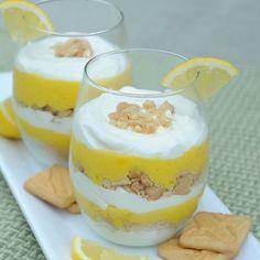 Lemon Pie Parfaits: I'm always looking for sweet lemon desserts to finish an Italian meal.