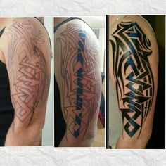 Daniel's tattoo.  Tribal Thin Blue Line.again the work of jimmy